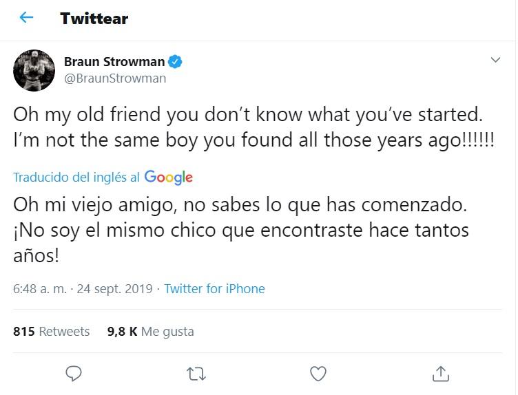 Braun Strowman se vengará de Bray Waytt