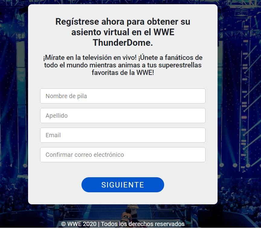 Registro WWE Thunderdome
