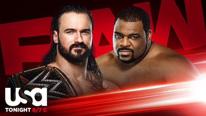 Drew Mcintyre vs Keith Lee Raw 14 de septiembre de 2020- Ph: Twitter WWE- www.wrestlingadictos.com