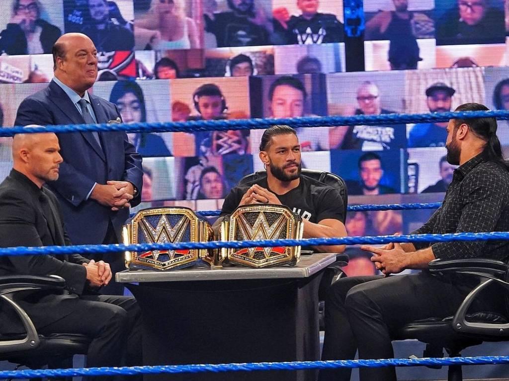Adam Pearce advertencia excampeón WWE Roman Reigns Royal Rumble