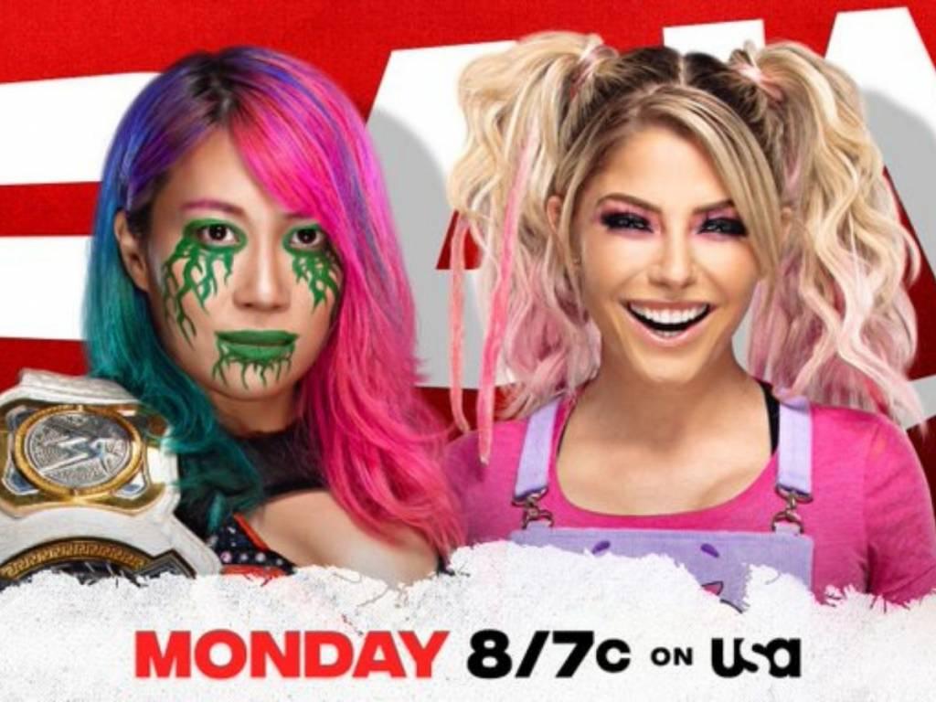 Advertencia Asuka Alexa Bliss combate WWE Raw