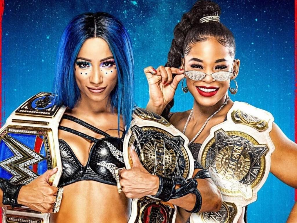 Nia Jax & Shayna Baszler vs Sasha Banks y Bianca Belair Fastlane 2021 WWE