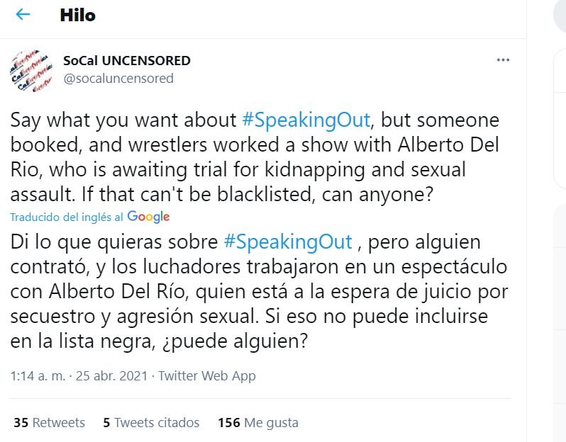 Alberto del Río luchadores AEW