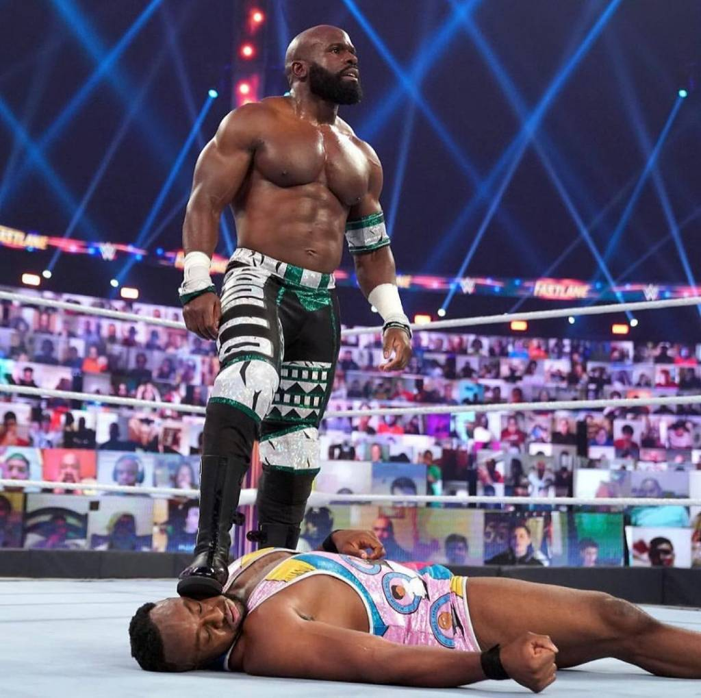 Apollo Crews Big E WrestleMania 37 WWE