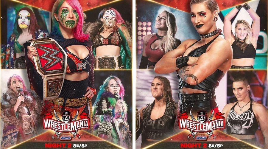 Asuka Rhea Ripley WrestleMania 37 noche 2