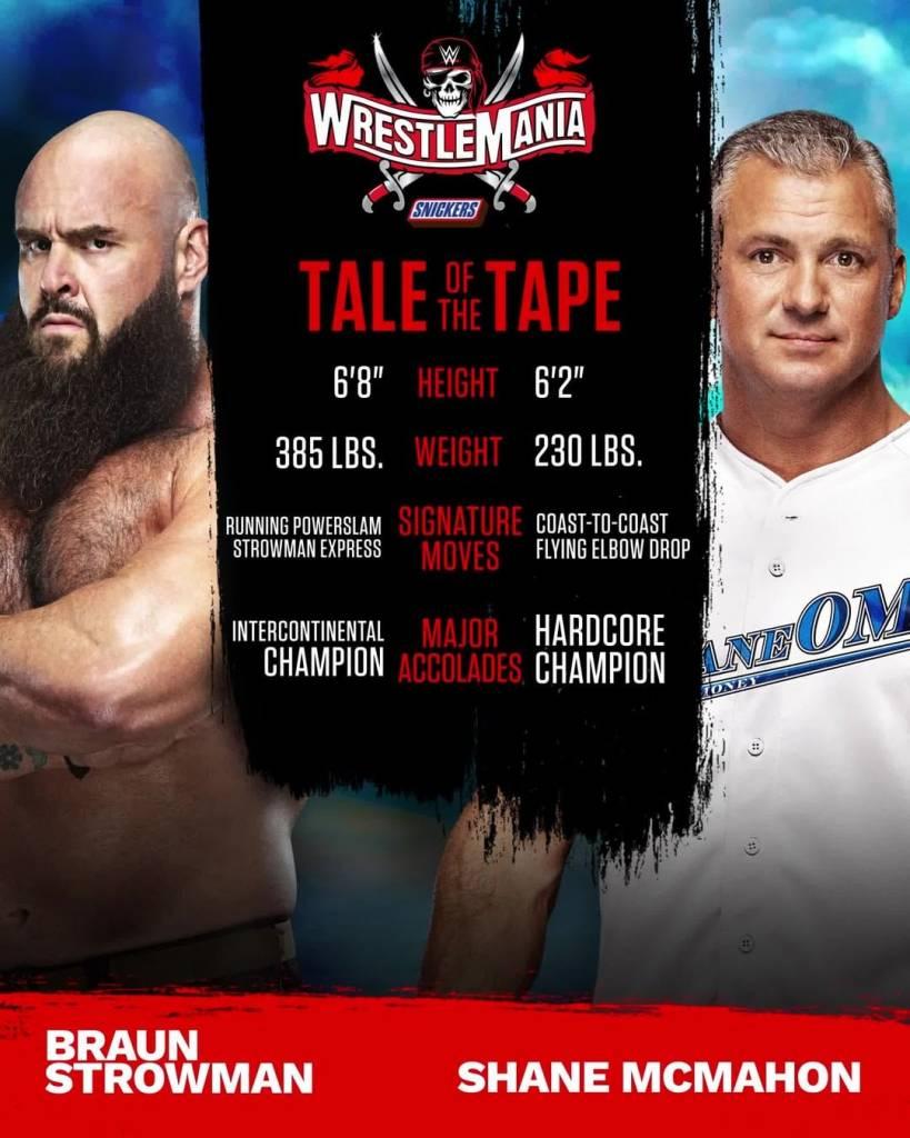 Braun Strowman Shane McMahon WrestleMania 37