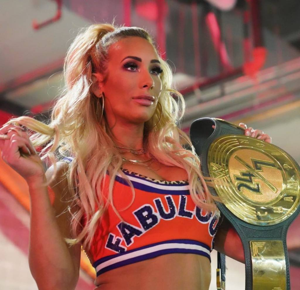 Carmella no acuerdo WrestleMania 37