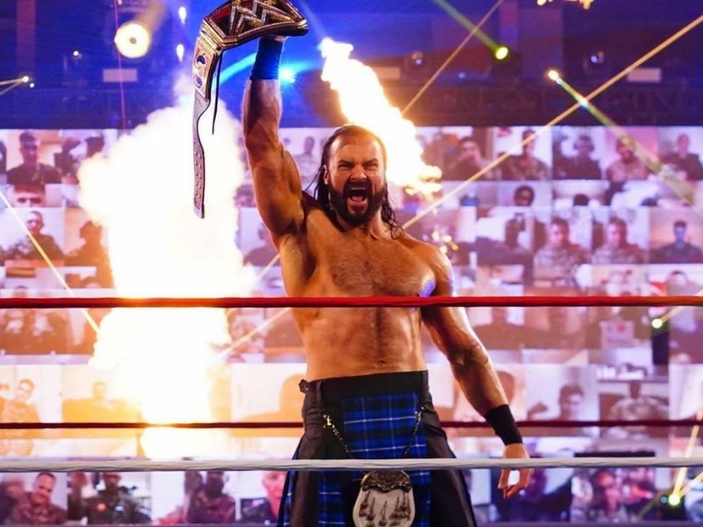 Drew McIntyre similitudes Lashley Lesnar WrestleMania