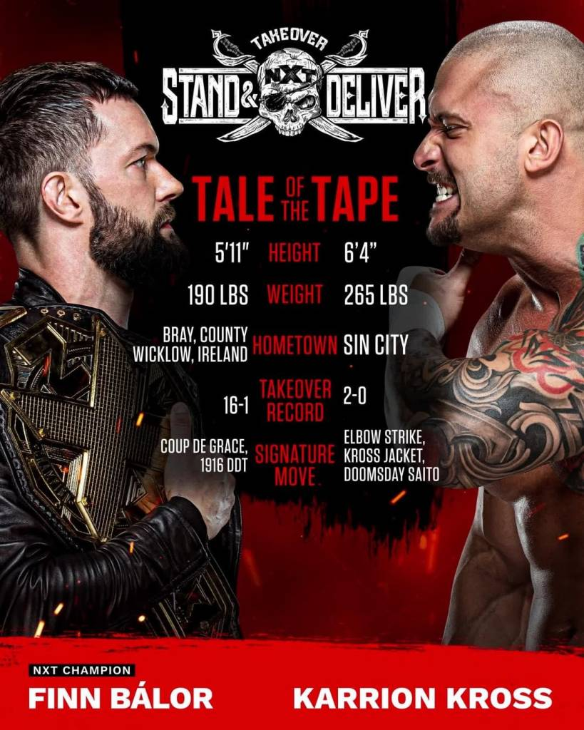 Finn Bálor vs Karrion Kross NXT TakeOver: Stand & Deliver 2021 Campeonato Mundial NXT