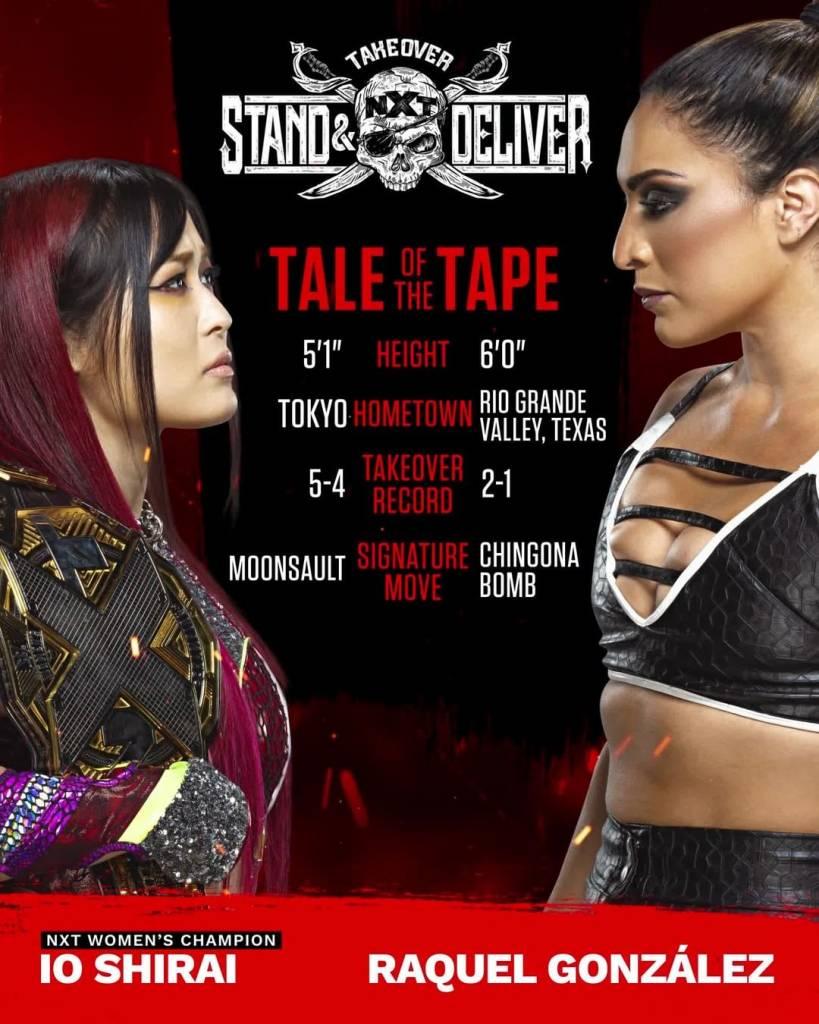Io Shirai Raquel González NXT TakeOver Stand & Deliver 2021