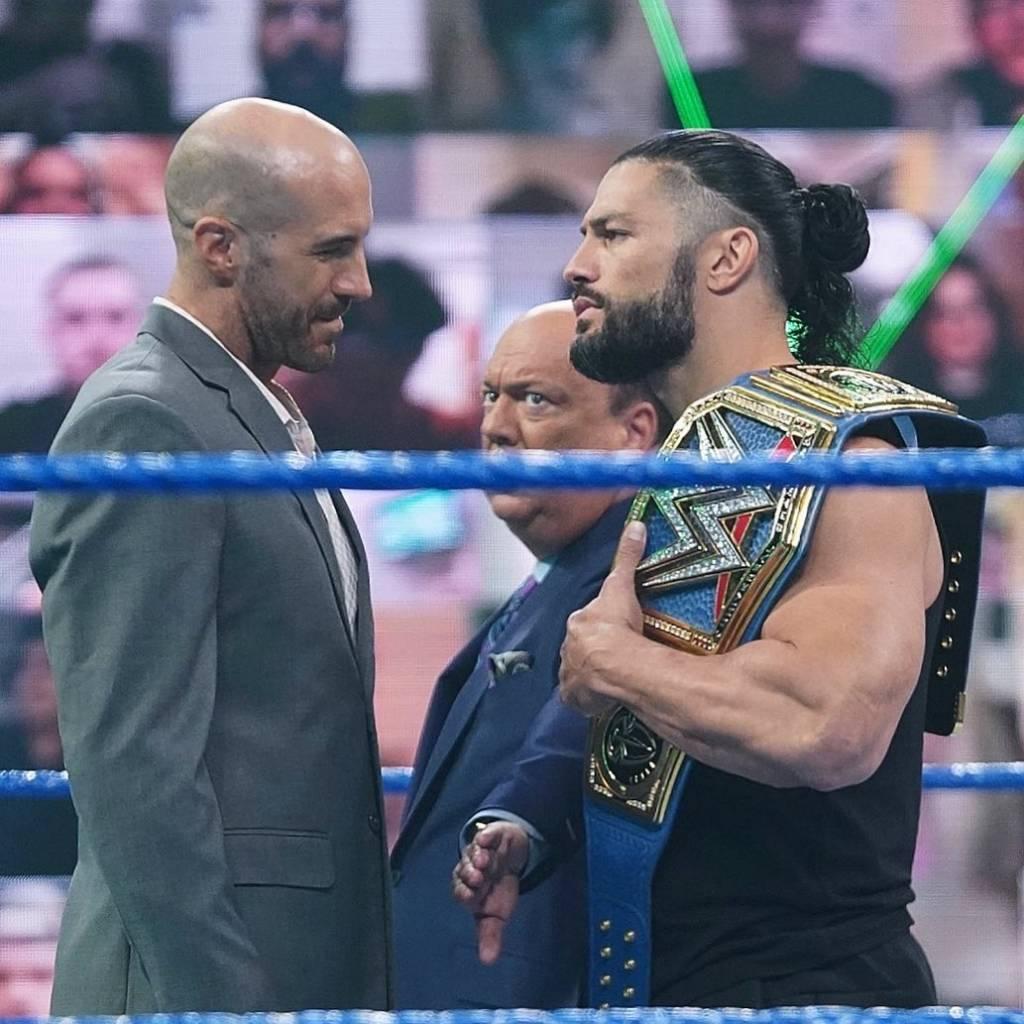 WWE Roman Reigns Cesaro por el Campeonato Universal WrestleMania BackLash 2021