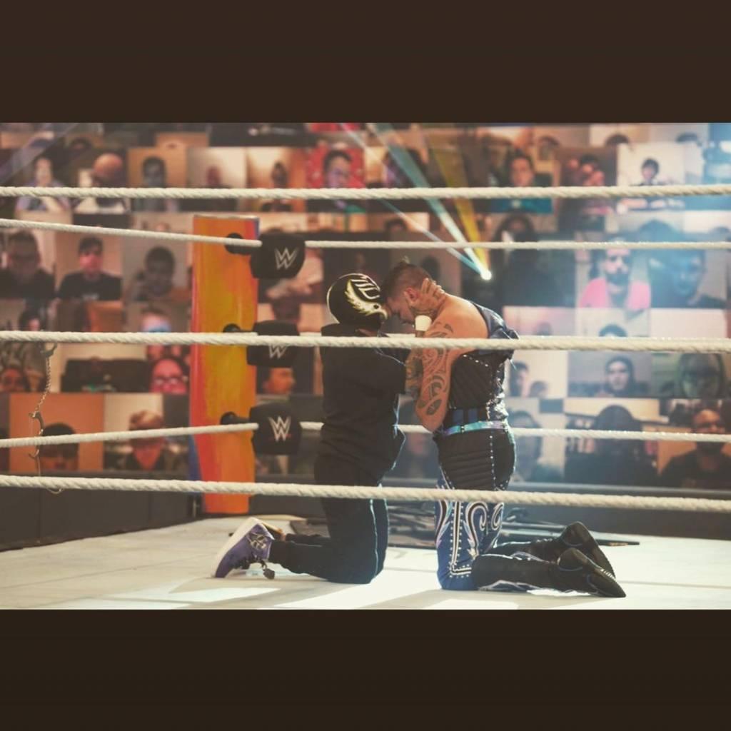 WWE Dolph Ziggler & Robert Roode Rey Mysterio & Dominik Mysterio los Campeonatos en Parejas de SmackDown WrestleMania BackLash 2021