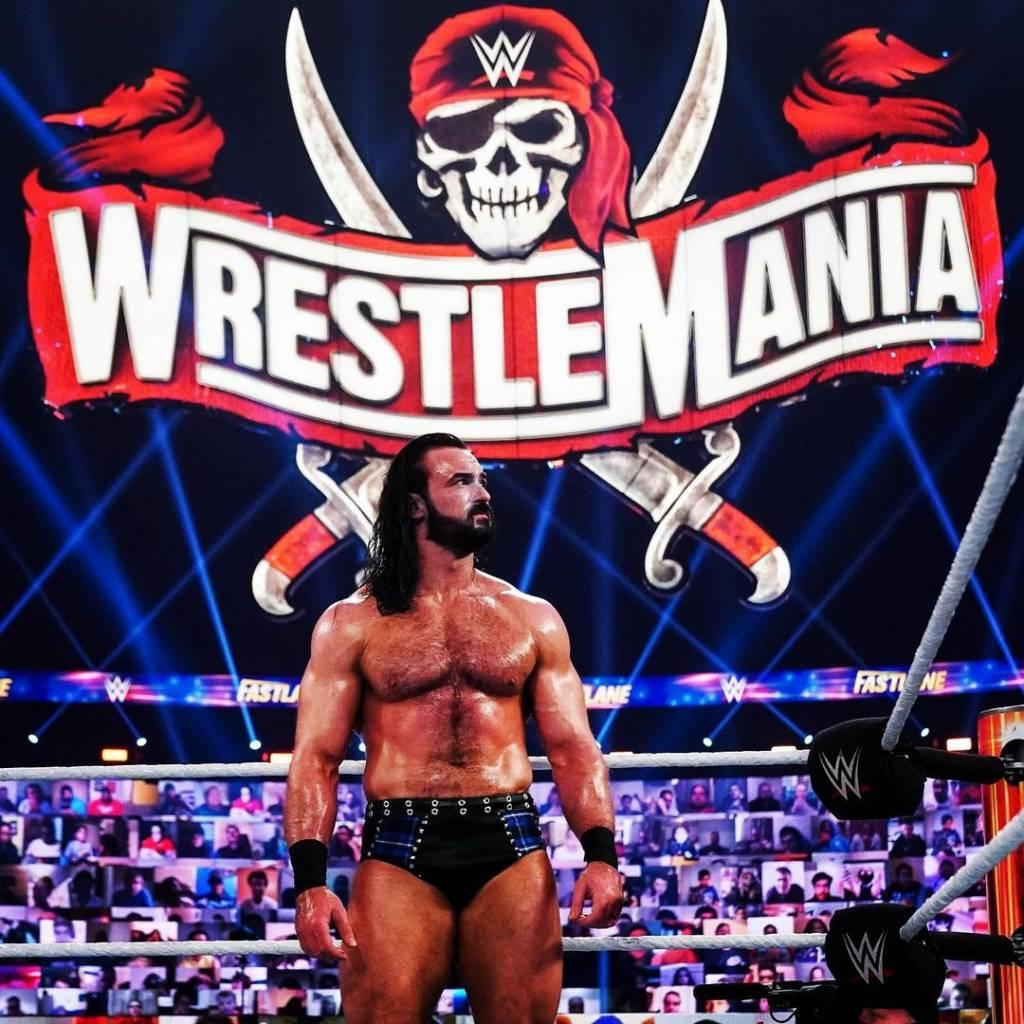Bobby Lashley Drew McIntyre Braun Strowman WrestleMania BackLash 2021