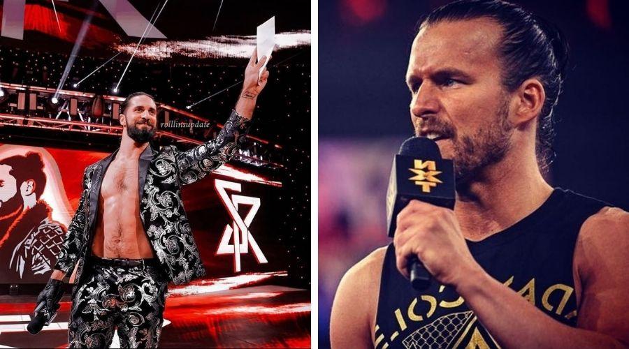 Seth Rollins combate Adam Cole