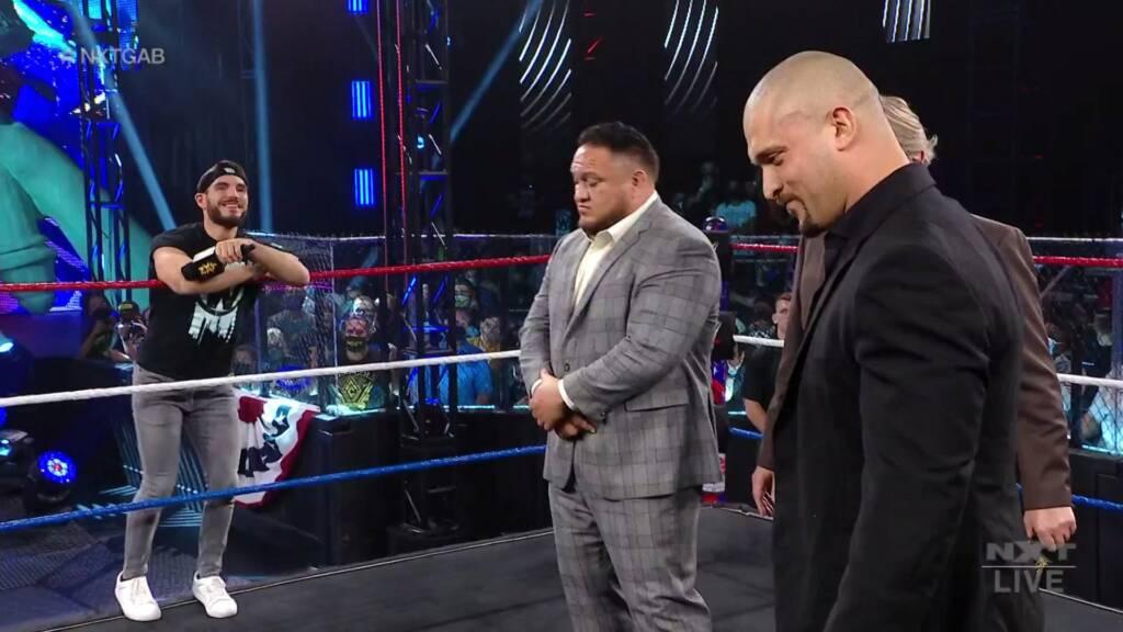Karrion Kross vs Johnny Gargano Samoa Joe